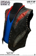 KISS: LICK IT UP Official Leather Vest Image 4