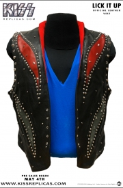 KISS: LICK IT UP Official Leather Vest