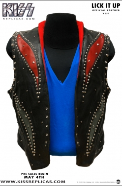 KISS: LICK IT UP Official Leather Vest Image 1