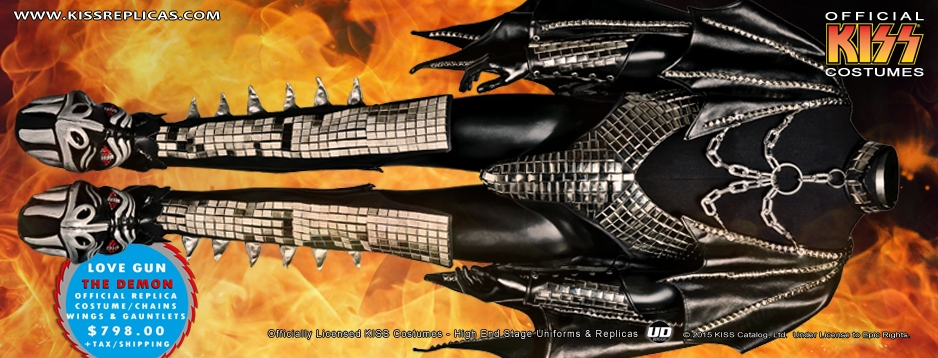 KISS Demon Love Gun Costume Fire