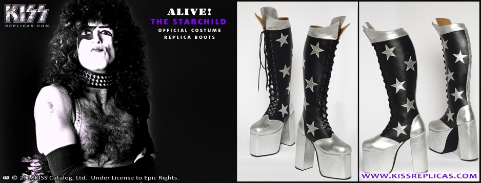 KISS: The Starchild ALIVE! Official Boots
